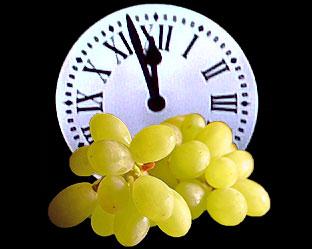las 12 uvas con las campanadas
