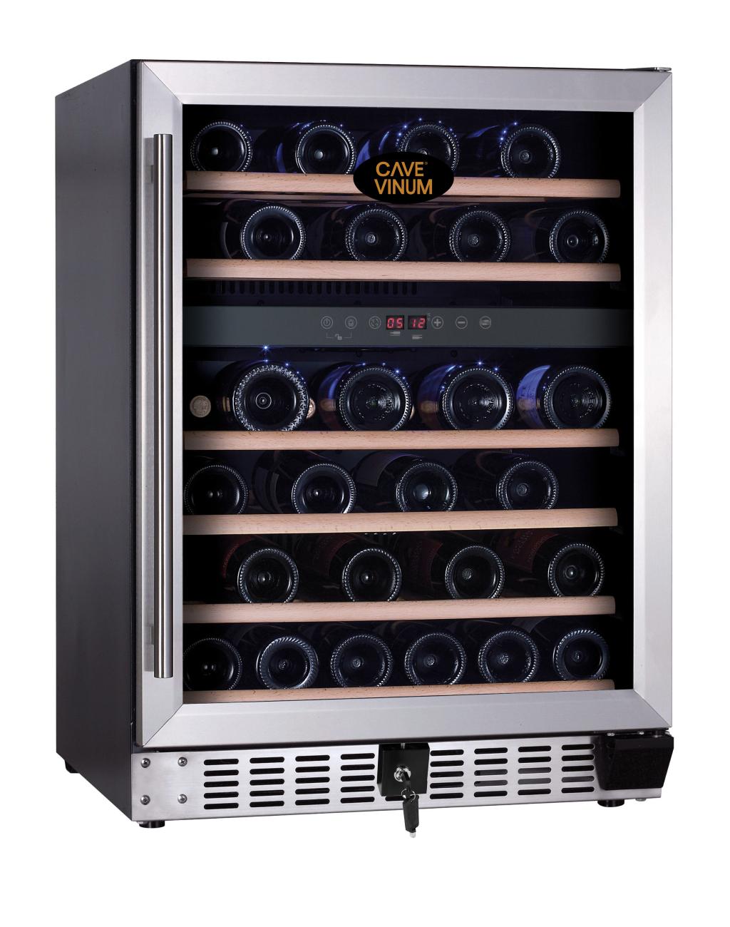 Armario para vinos de 2 temperaturas para 46 botellas - Vinoteca 2 temperaturas ...
