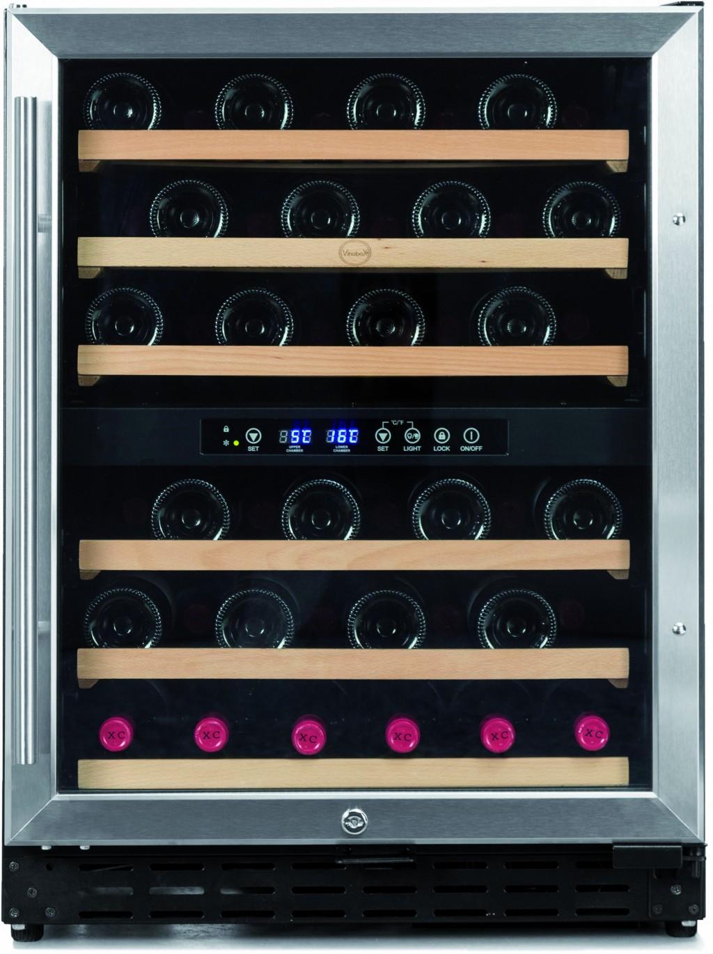 Armario para vinos para 50 botellas 2 temperaturas - Vinoteca 2 temperaturas ...